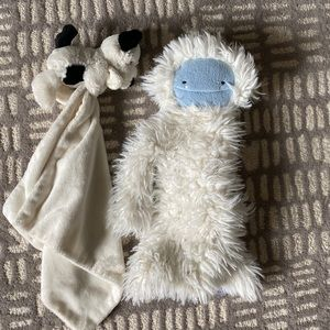 Baby security blanket and cuddle yeti